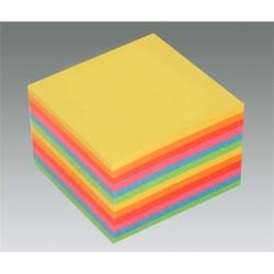 Kockatömb 8,5x8,5x5 cm ragasztott intenzív színek