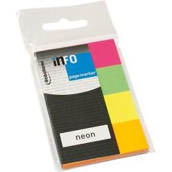 Oldaljelölő papír Info Notes 20x50 mm 4x50 lapos neon vegyes színek