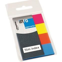 Oldaljelölő műanyag Info Notes 20x50 mm 4x40 lapos neon vegyes színek