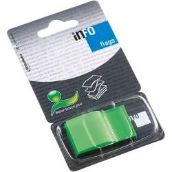 Oldaljelölő műanyag Info Notes Info Flag 25x43 mm 50 lapos zöld