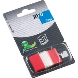 Oldaljelölő műanyag Info Notes Info Flag 25x43 mm 50 lapos áttetsző piros