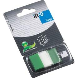 Oldaljelölő műanyag Info Notes Info Flag 25x43 mm 50 lapos áttetsző zöld