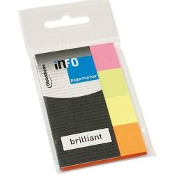 Oldaljelölő papír Info Notes 20x50mm 4x40 lapos élénk vegyes színek