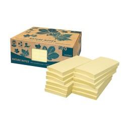 Öntapadós jegyzettömb Info Notes 125x75 mm 100 lapos sárga környezetbarát