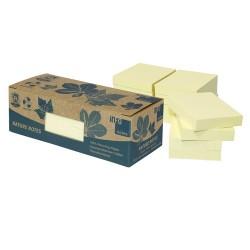 Öntapadós jegyzettömb Info Notes 50x40 mm 12x100 lapos sárga környezetbarát