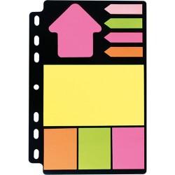 Öntapadós jegyzettömb szett Info Notes 150x220 mm vegyes színek gyűrűs betéten