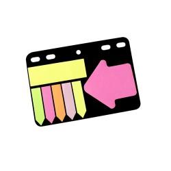 Öntapadós jegyzettömb szett Info Notes 100x140 mm vegyes színek gyűrűs betéten