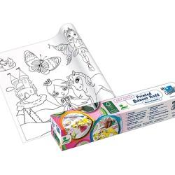 Kreatív öntapadós nyomott papír Info Creative 300 mm x 4 m lányoknak