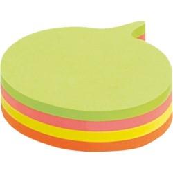 Öntapadós jegyzettömb Info Notes Cubes 70x70 mm 200 lapos neon vegyes színek mondatfelhő