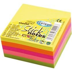 Öntapadós jegyzettömb Centrum Stick Notes 51x51 mm 250 lapos neon vegyes színek