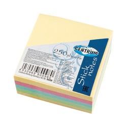 Öntapadós jegyzettömb Centrum Stick Notes 51x51 mm 250 lapos pasztell vegyes színek