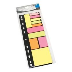Öntapadós jegyzettömb szett Info Notes 315x120 mm vegyes színek gyűrűs betéten