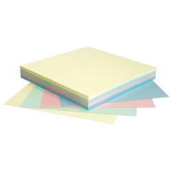 Öntapadós jegyzettömb Info Notes 75x75 mm 100 lapos pasztellszínek