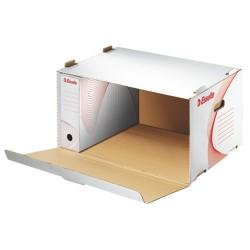 Archiváló konténer Esselte 505x252x360 mm előre nyíló tetővel fehér 128910