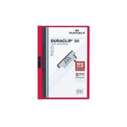 Clip-mappa Durable Duraclip A/4 30 lapig piros