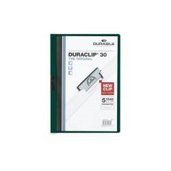 Clip-mappa Durable Duraclip A/4 30 lapig sötétzöld