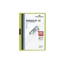 Clip-mappa Durable Duraclip A/4 30 lapig zöld