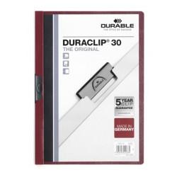 Clip-mappa Durable Duraclip A/4 60 lapig padlizsán