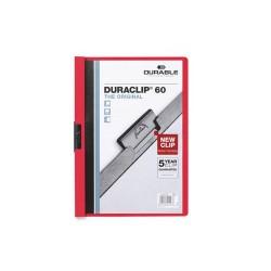 Clip-mappa Durable Duraclip A/4 60 lapig piros
