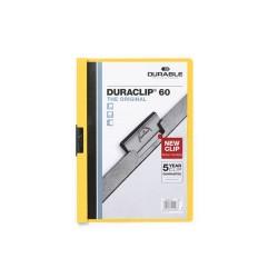 Clip-mappa Durable Duraclip A/4 60 lapig sárga