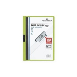 Clip-mappa Durable Duraclip A/4 60 lapig zöld