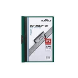 Clip-mappa Durable Duraclip A/4 60 lapig sötétzöld
