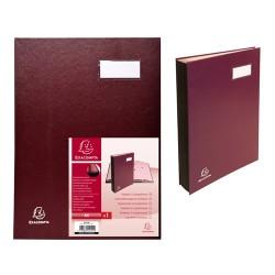 Aláírókönyv Exacompta 240x320 mm 12 részes burgundi