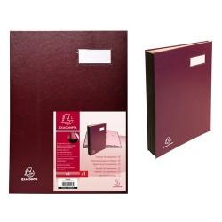 Aláírókönyv Exacompta 240x320 mm 18 részes burgundi