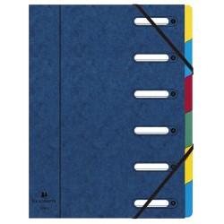 Előrendező Exacompta 245x320 mm 6 részes ablakos karton kék