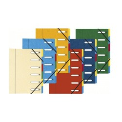 Előrendező Exacompta 245x320 mm 6 részes gumis ablakos karton vegyes színek