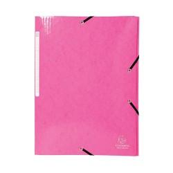 Gumis mappa karton Exacompta Iderama A/4 rózsaszín