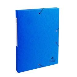 Füzetbox karton Exacompta A/4 25 mm gerinccel prespán kék