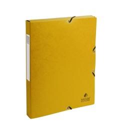 Füzetbox karton Exacompta A/4 25 mm gerinccel prespán sárga