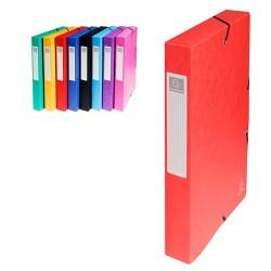 Füzetbox karton Exacompta A/4 40 mm gerinccel prespán piros