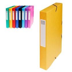 Füzetbox karton Exacompta A/4 40 mm gerinccel prespán sárga