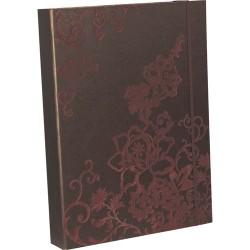 Füzetbox Clairefontaine Roses A/4 40 mm gerinccel csoki/vanília