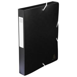 Füzetbox PP Exacompta Exabox-Opaque A/4 40 mm gerinccel gumis fekete