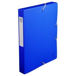 Füzetbox PP Exacompta Exabox-Opaque A/4 40 mm gerinccel gumis kék