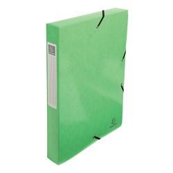 Füzetbox karton Exacompta Iderama A/4 40 mm gerinccel gumis ánizszöld