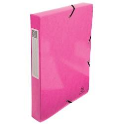 Füzetbox karton Exacompta Iderama A/4 40 mm gerinccel gumis rózsaszín