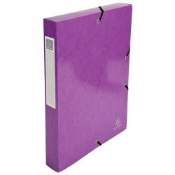 Füzetbox karton Exacompta Iderama A/4 40 mm gerinccel gumis lila