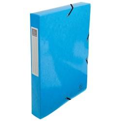 Füzetbox karton Exacompta Iderama A/4 40 mm gerinccel gumis világoskék