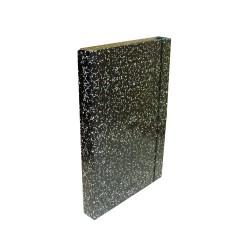 Füzetbox A/4 30 mm gerinccel mákos fekete