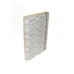 Füzetbox A/4 30 mm gerinccel textil szürke