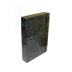 Füzetbox A/4 50 mm gerinccel mákos fekete