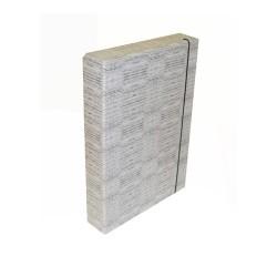 Füzetbox A/4 50 mm gerinccel textil szürke