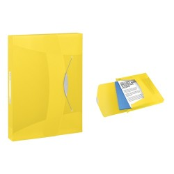 Gumis mappa PP Esselte Vivida Jumbo A/4 40 mm sárga 624052