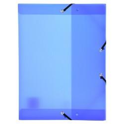 Füzetbox PP Exacompta Linicolor A/4 40 mm gerinccel kék
