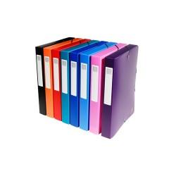 Füzetbox PP Exacompta Opaque A/4 40 mm gerinccel vegyes színek