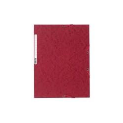 Gumis mappa karton Exacompta prespán A/4 cseresznyepiros